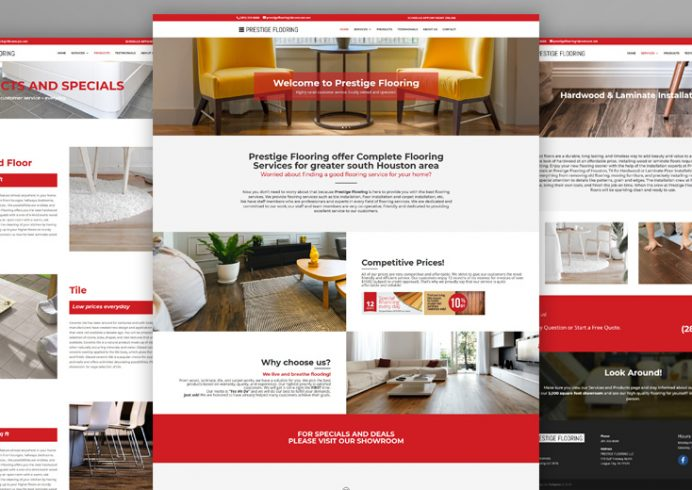 Prestige Flooring Website Design