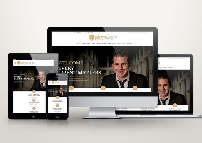Criminal Defense Attorney Website Design Houston