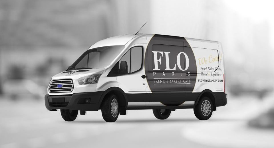 Flo Paris Bakery Vehicle Wrap Design