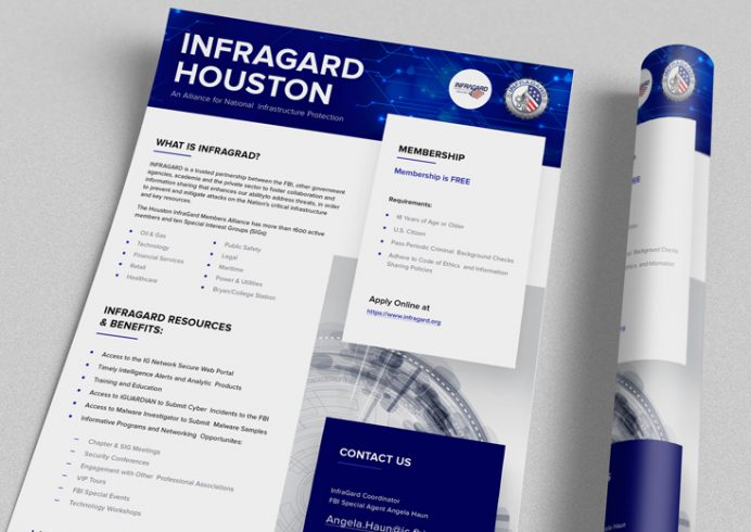 Newsletter Design for InfraGard Houston Chapter