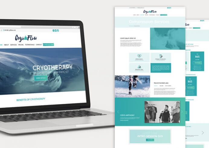 CryoFlow Houston Brand and Website Design