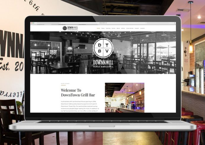 DVB&G Restaurant Logo and Website Design