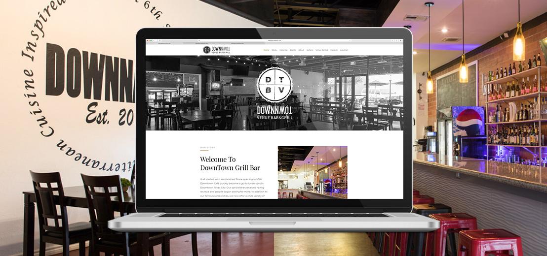 DVB&G Restaurant Logo and Website Design